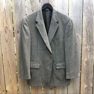 Burberry   Wool Windowpane Plaid Blazer Size 40R